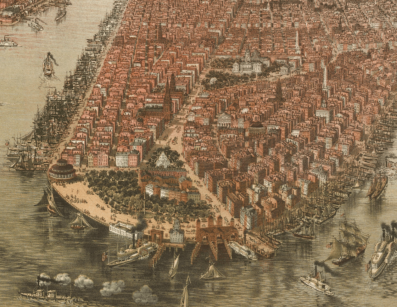 Bird's-Eye View of Lower Manhattan