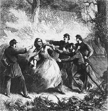 Capture of Jefferson Davis, at Irwinsville, GA