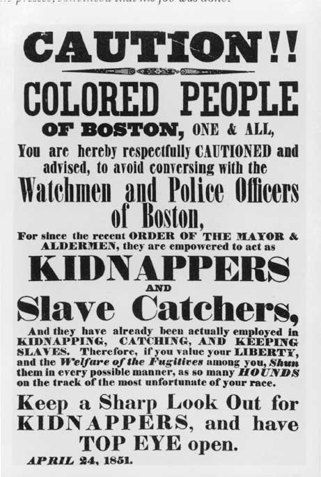 Caution, Colored People of Boston