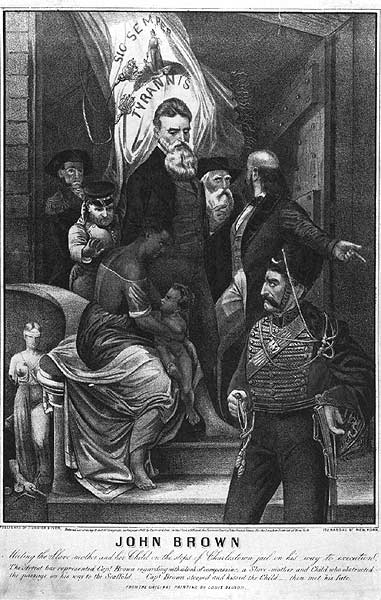 John Brown Meeting the Slave Mother and Her Child on the Steps of Charlestown Jail on His Way to Execution